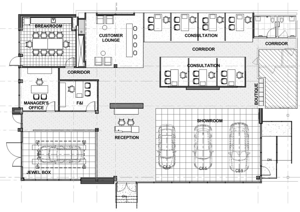 Martin Mazda Jewel Box Space Plan